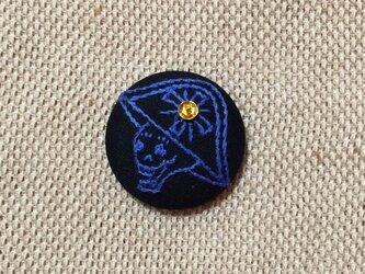 ヘアゴム(ガイコツ 甲冑VO2)ブルーの画像