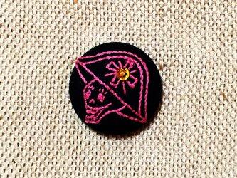 ヘアゴム(ガイコツ 甲冑VO2)ピンクの画像