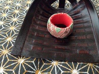 加賀ゆびぬき⭐️紅白×緑の画像