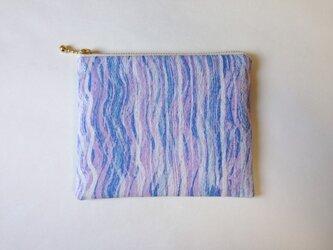絹手染ポーチ(12.5cm×15cm 淡色表裏)の画像