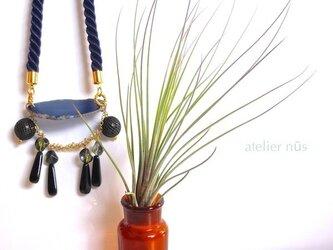 瑠璃メノウ ツイストロープ ネックレスの画像