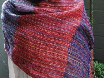 シルク手織ストールMの画像