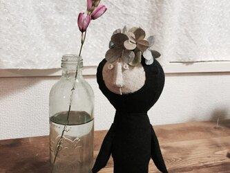 飾り人形 発表会の子供たち アジサイ ピンクの画像