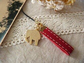 【セール☆】スウェードストラップ【ゾウ RED】の画像