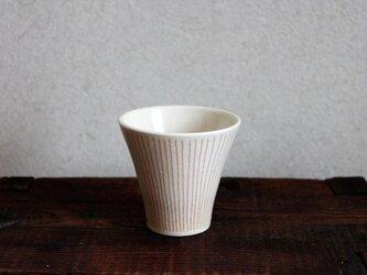 オレンジストライプフリーカップの画像