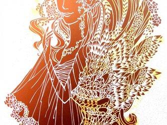 世界に一つだけのアゲ嬢の切り絵アートです。の画像