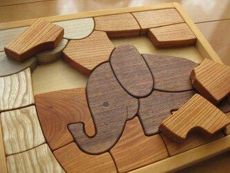 木製パズル(ぞう)の画像