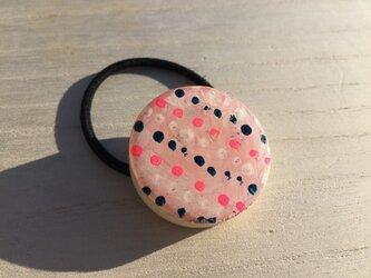 wood hair elastic: dot dotの画像