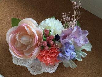 お花のバレッタ pink*の画像