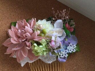 お花のかんざし pink Dahliaの画像
