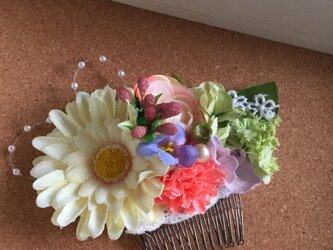お花のかんざし Gerberaの画像