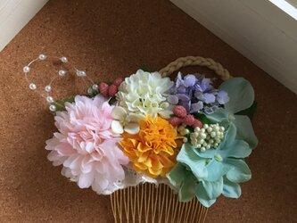 お花のかんざし colorfulの画像