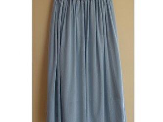 コットンチュール ライトブルーグレー チュチュドレスの画像