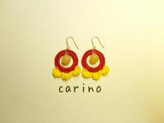 ●リングと花びらのピアス●の画像