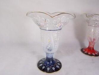パフェ&デザートグラス 青の画像