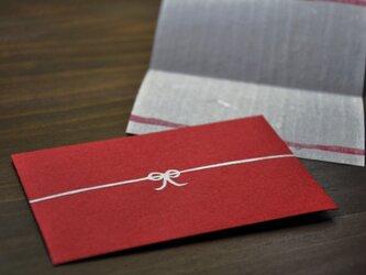 ミニ封筒(カード付き) 赤の画像