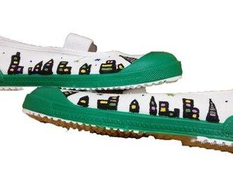 手描き靴★上靴の画像