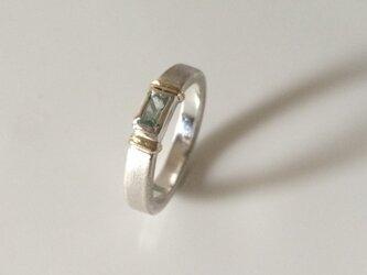 グリーンベリルのリングの画像
