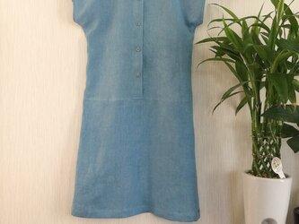 藍染めバイオ洗いリネンワンピースTAMI様専用注文欄の画像