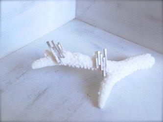 シルバーピアス Piling Blocksの画像