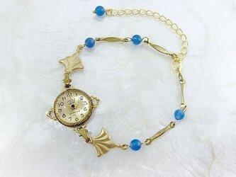 時計石の腕飾り(碧)の画像