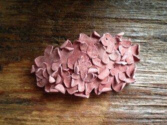 革花のバレッタ サーモンピンク 金具6cm 89の画像