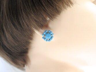 スワロフスキー ビジュー ピアス < turquoise >の画像