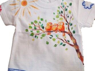 特注手描きTシャツ★名入れ★プレゼント出産祝いにの画像