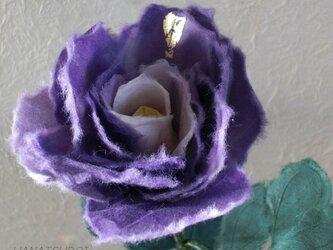 和紙花 薔薇の画像