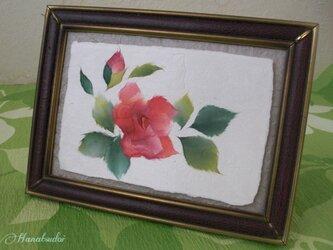 ちぎり絵カード 薔薇の画像