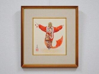 日本画色紙 「蘭陵王」の画像