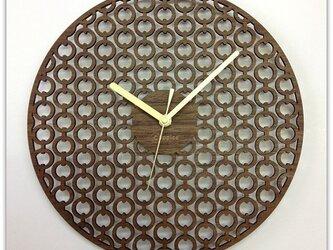 壁掛時計 CHAIN (ウォールナット)の画像