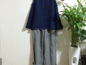 藍染めバイオ洗いリネン生地ブラウスTAMI様専用注文欄の画像
