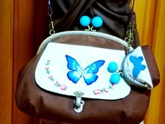 ターシャンのマザーズバッグ✿コンパクトサイズ✿モルフォ蝶の画像