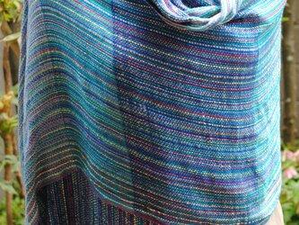 シルク手織ストールOの画像