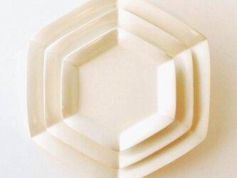 六角花皿 大中小3枚セットの画像