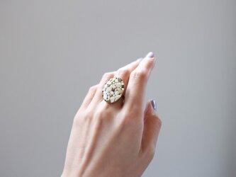 お米と植物の指輪の画像