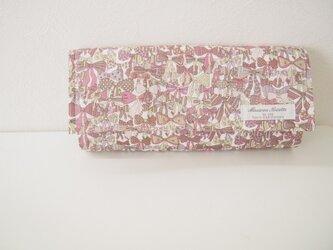 リバティ長財布 あずきミルク系(ジェニーズリボン)の画像