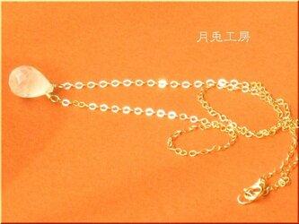 14kgf ホワイトラブラドライト (ムーンストーン)ネックレスの画像