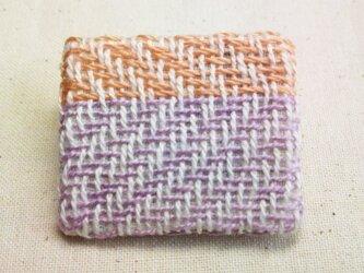 「よこよこ1」手織り布 ブローチの画像