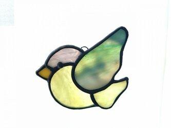 ステンドグラス 鳥(小)の画像
