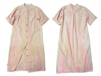 手染めシャツワンピ/ベージュピンクの画像