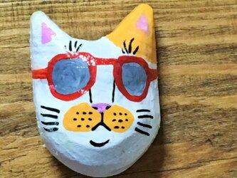 サングラス猫のマグネットの画像
