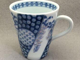 染付祥瑞藤文フリーカップの画像