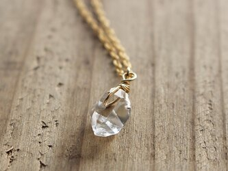 ハーキマーダイアモンドの原石ネックレス(K14GF)の画像