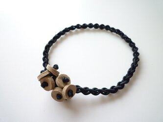 編みゴム(ヘアゴム)~ブラックの画像