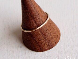 【再販】10K Hammered Ringの画像