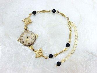時計石の腕飾り(黒)の画像