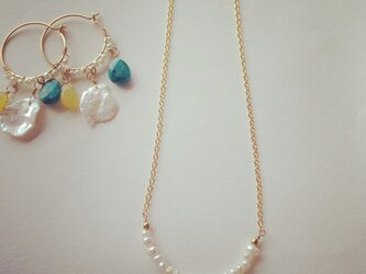 fresh water pearl necklaceの画像