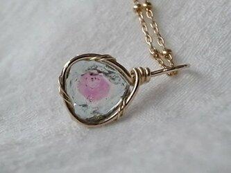 ウォーターメロン・トルマリンのネックレスの画像